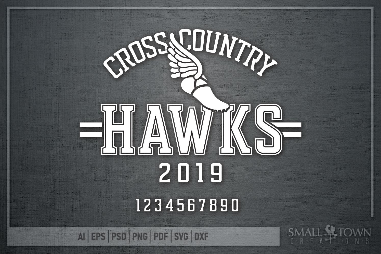 Hawks Cross Country Team, Hawk Mascot, PRINT, CUT & DESIGN example image 5