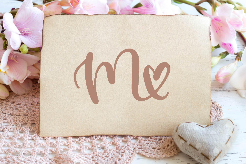 Heart Monogram Font - With Bonus Frame Font! example image 5