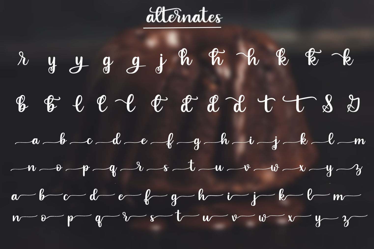 Indulgence - A handlettered script font example image 3