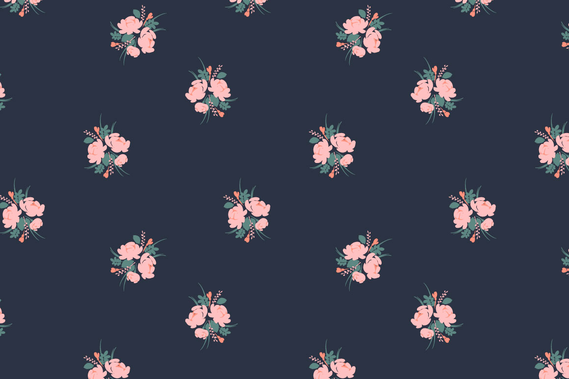 Cute flowers. 10 seamless patterns. example image 3
