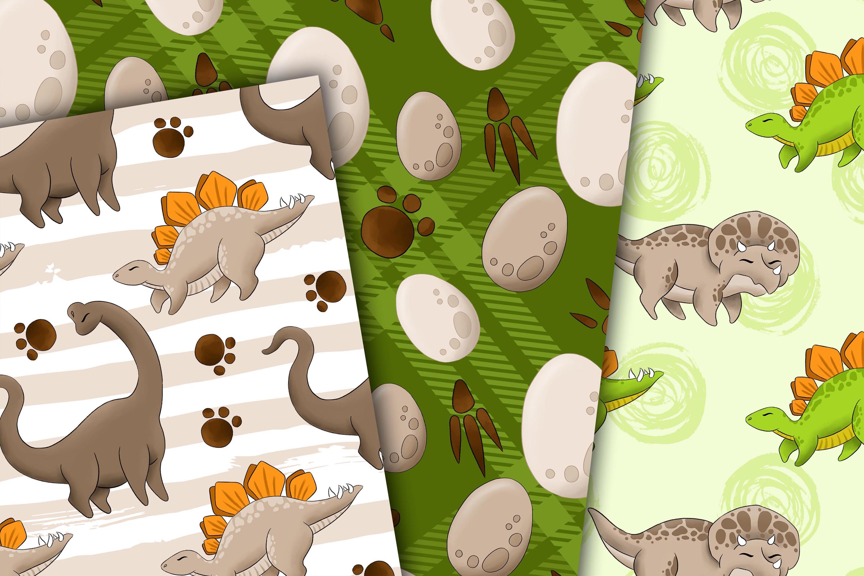 Dinosaur digital paper example image 2