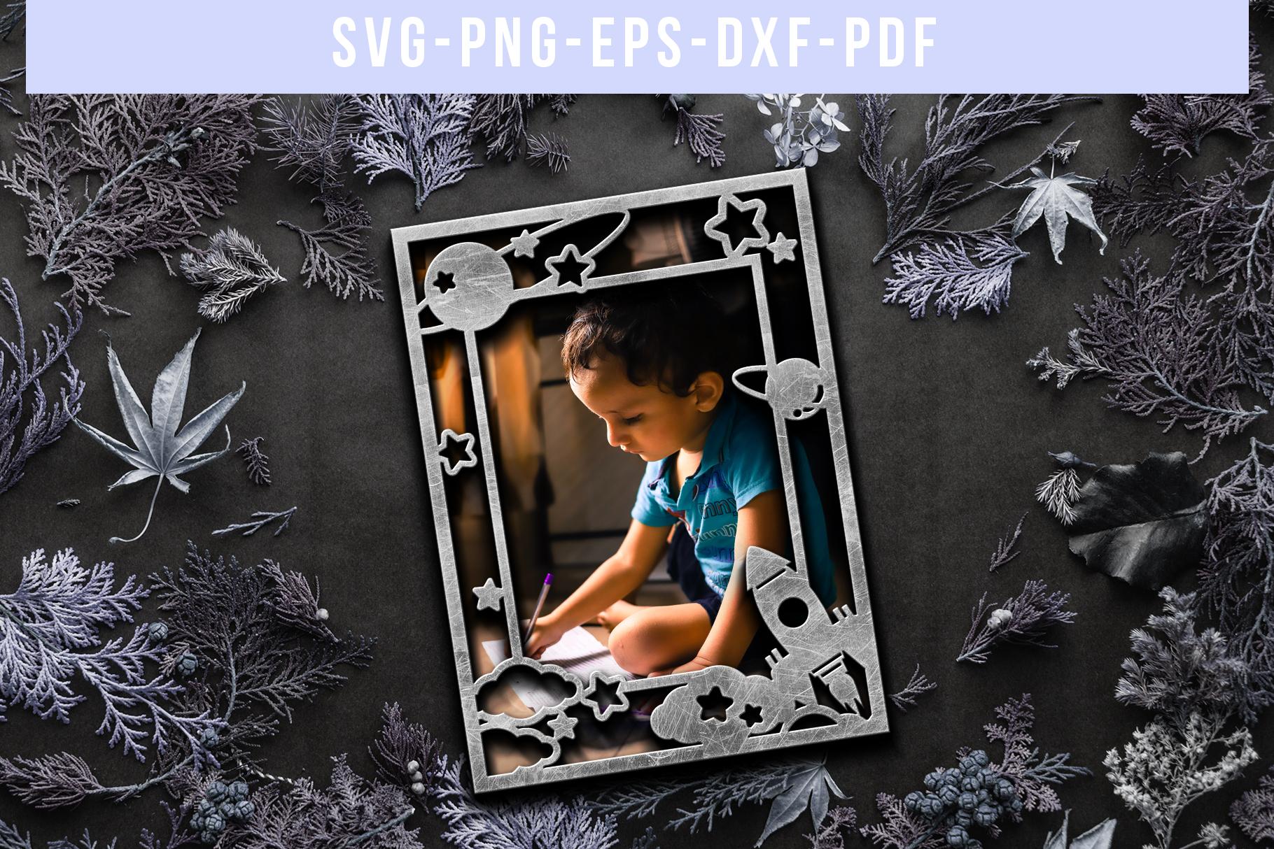 Potrait Photo Frame Papercut Template, Toddler Decor, SVG example image 5