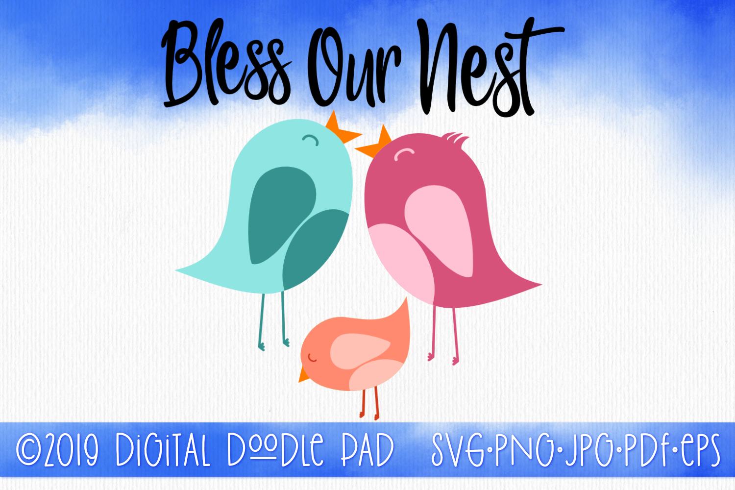 Bless Our Nest by Digital Doodle Pad example image 1