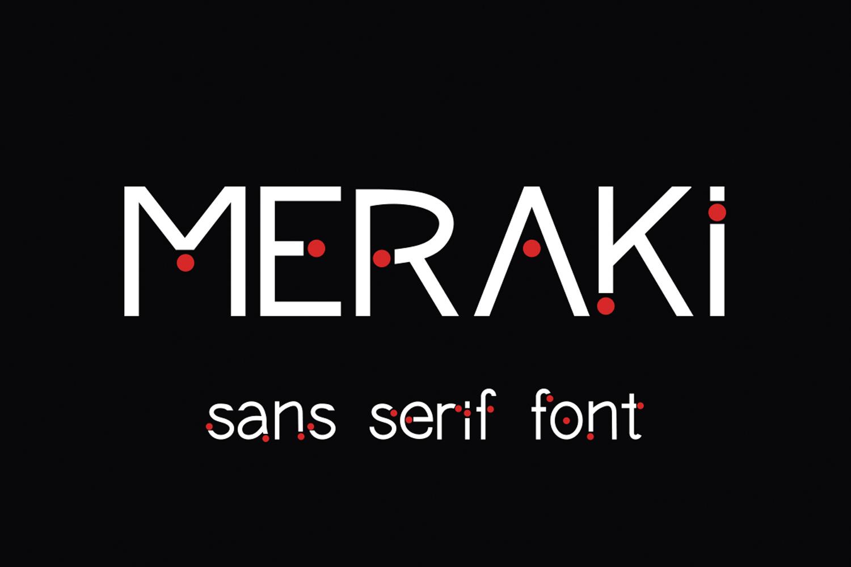 Meraki font example image 1