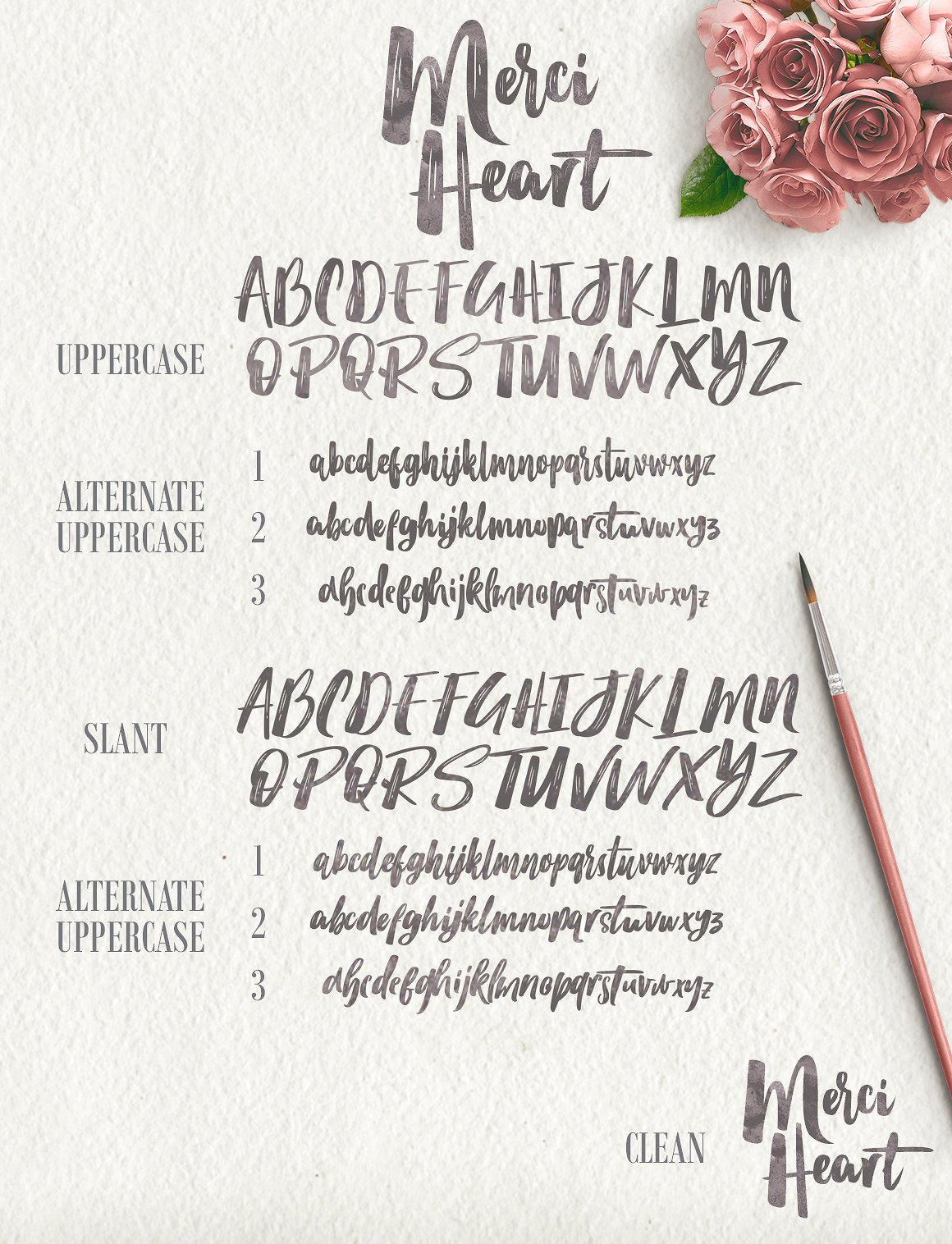 Merci Heart Brush (30% Off) example image 9