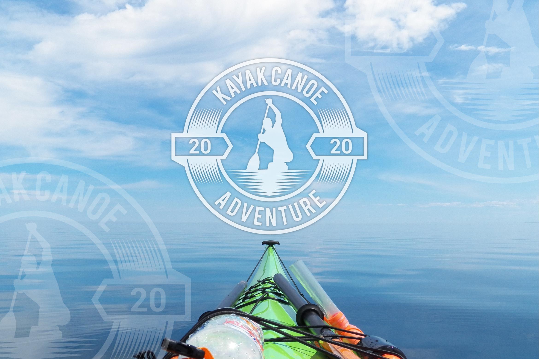 kayak canoe logo example image 1