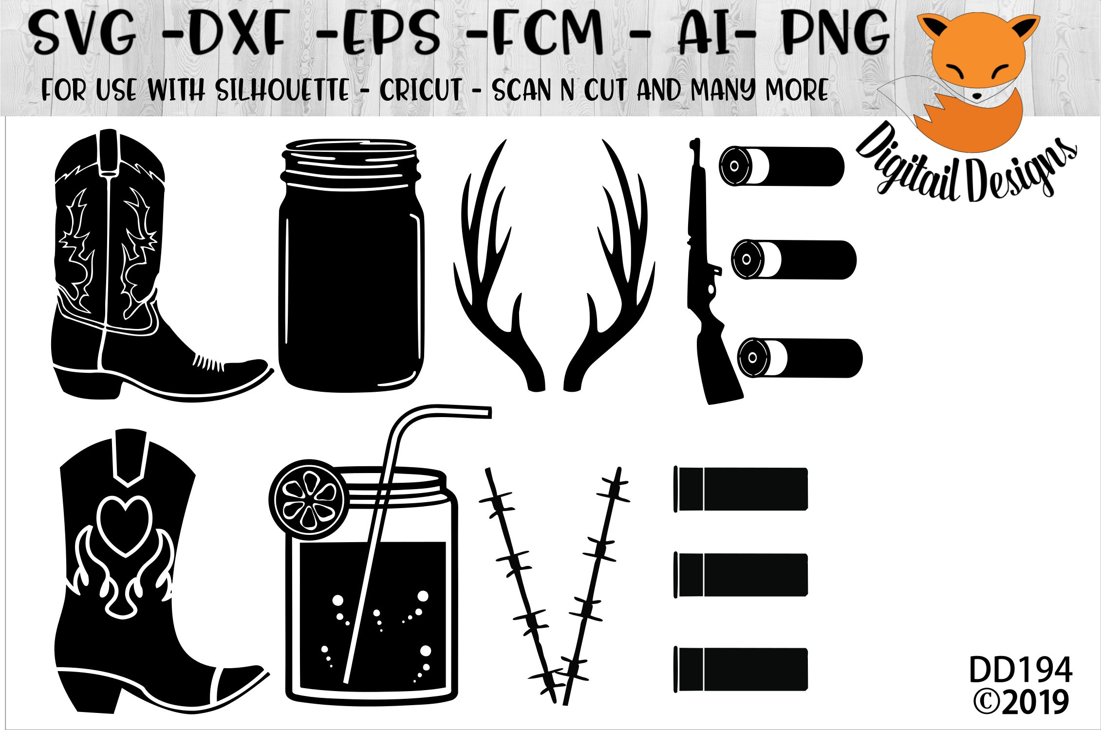 1582+ Love Cowboys Svg DXF Include