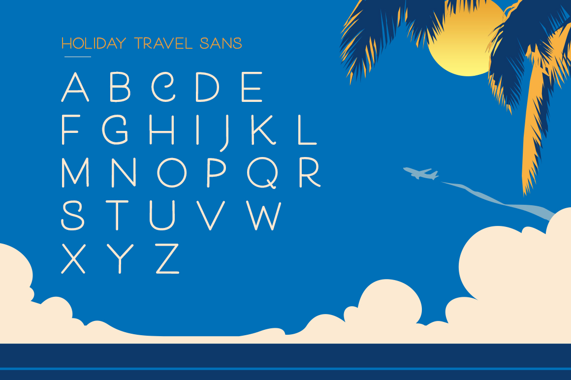 Holiday Travel Font Duo example image 9