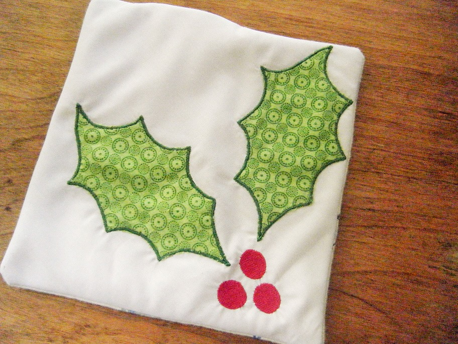 Holly Applique Embroidery Design example image 1