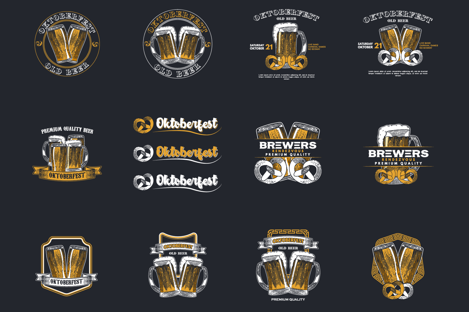 24 Hand drawn vector illustration of Beer example image 5