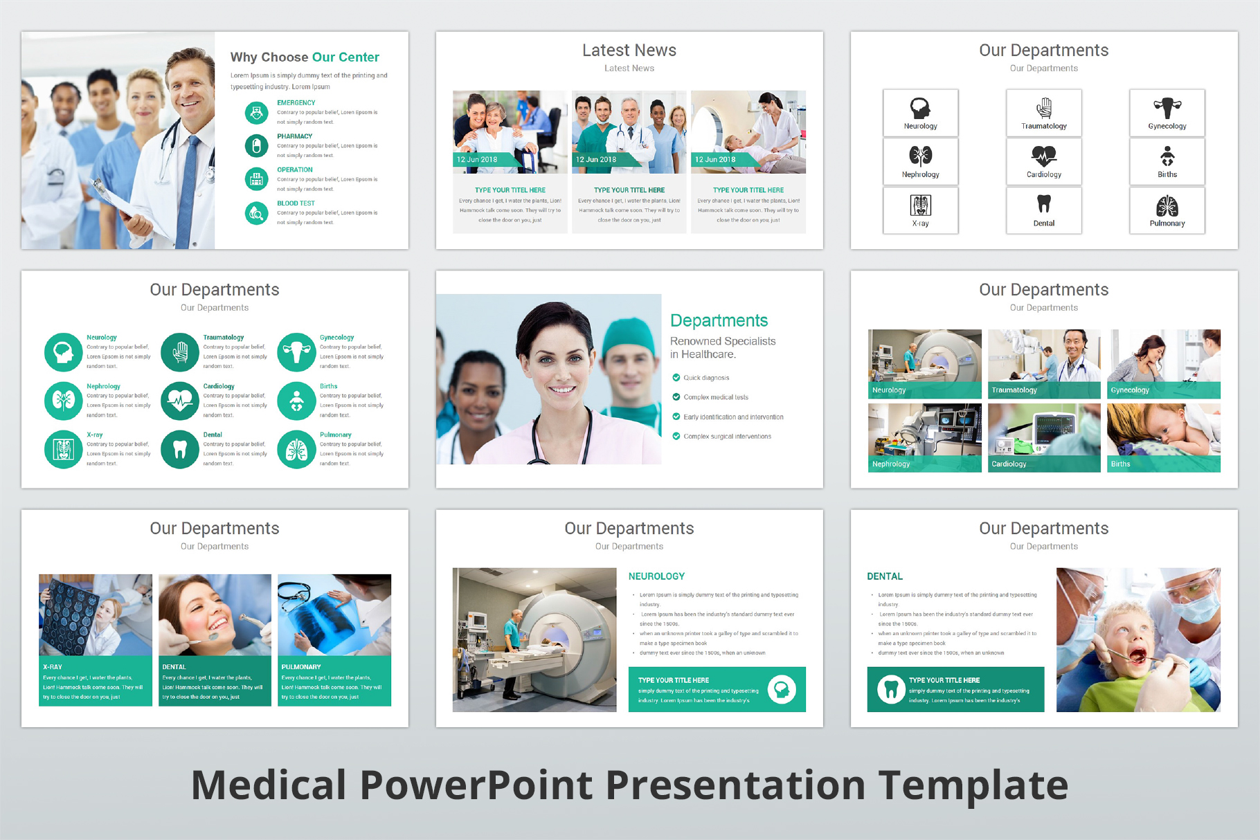 Medical and Healthcare Presentation PowerPoint Template example image 6