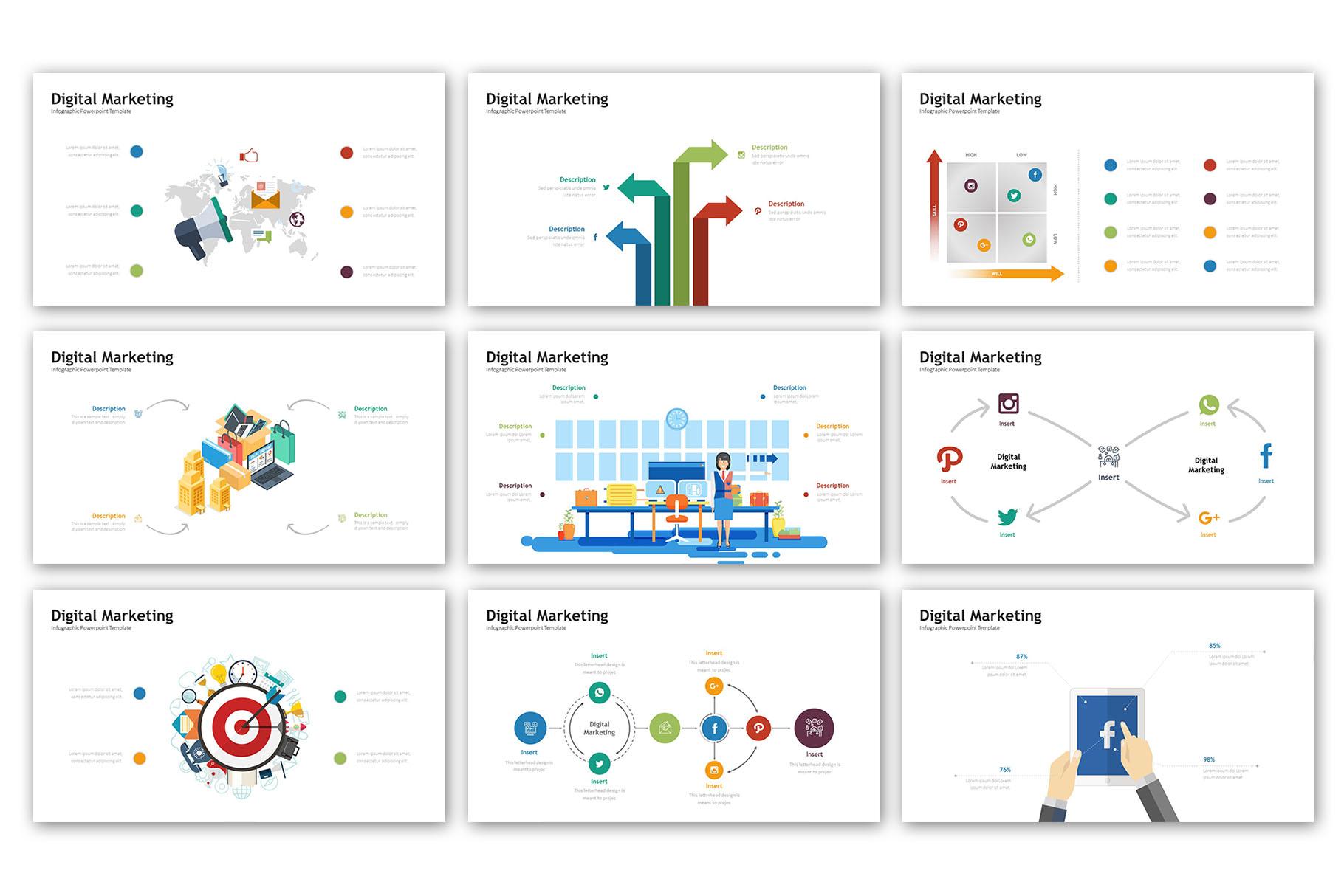 Digital Marketing Presentation - Infographic Template example image 5
