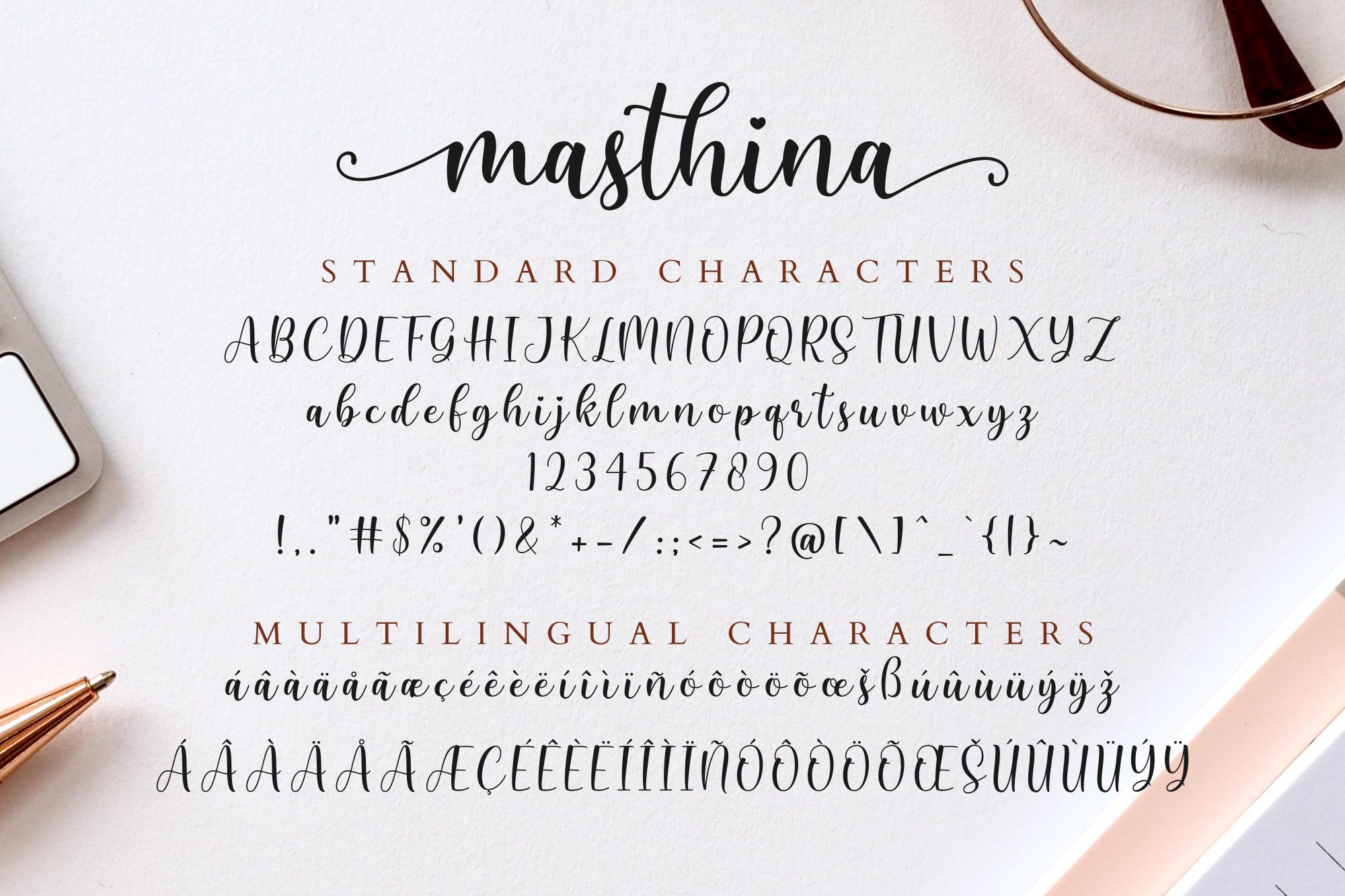 Masthina - Modern Calligraphy example image 10