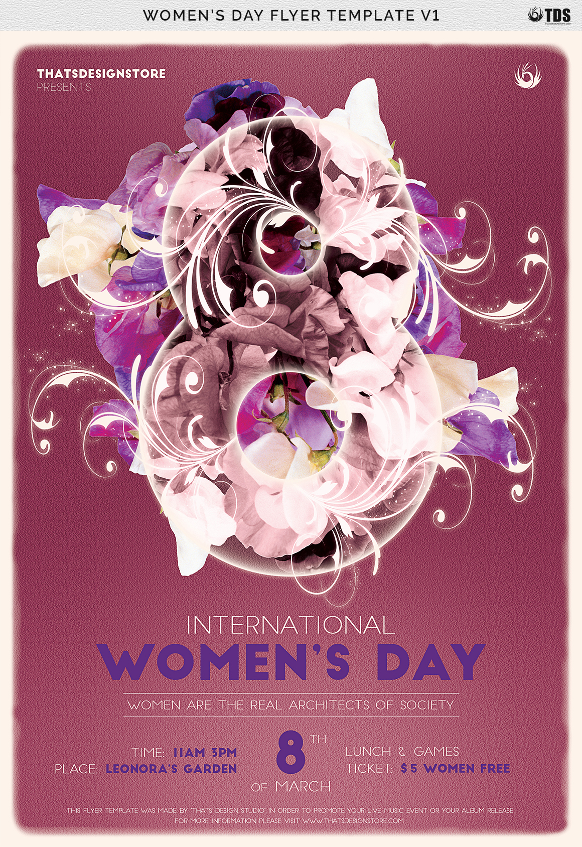 Womens Day Flyer Template V1 example image 7