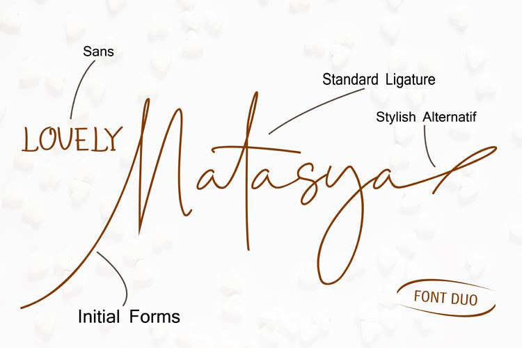 Lovely Natasya - Duo font example image 7