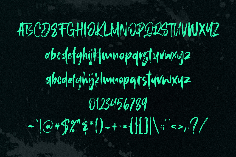 Roosevelt SVG Brush Font example image 9