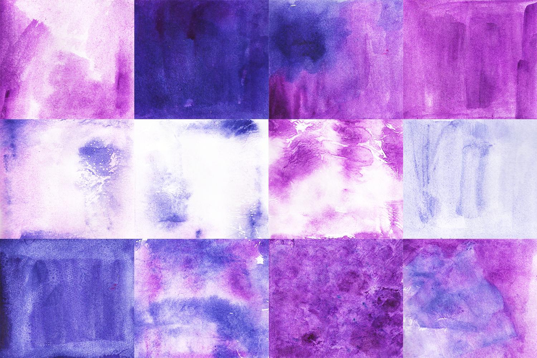 Mystic Purple Watercolor Textures example image 3