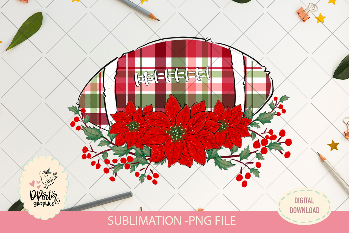 Football christmas plaid sublimation png example image 2