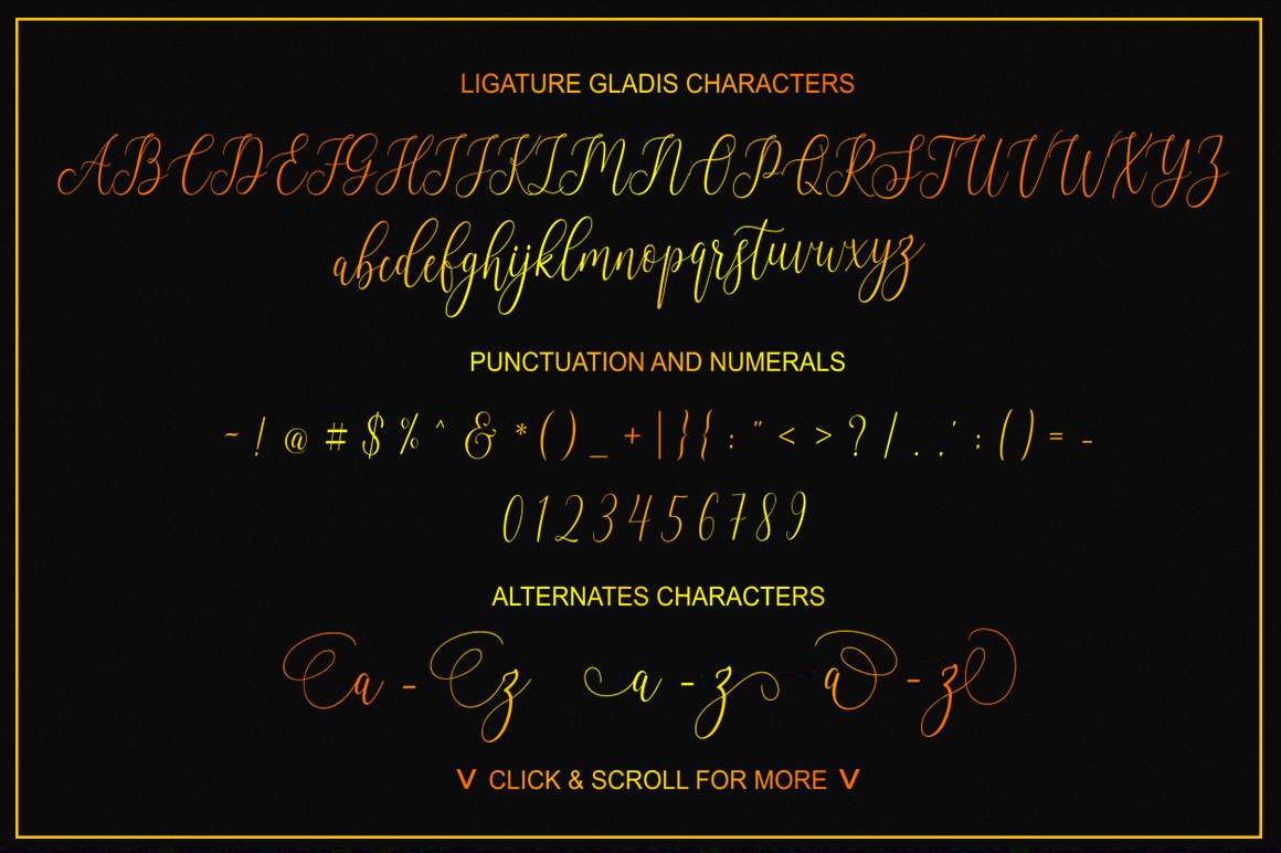 Ligature Gladis example image 5
