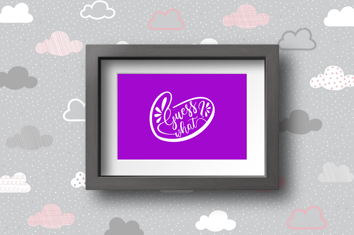 Pregnancy Announcement SVG Cut Files - Heart Guess What example image 2