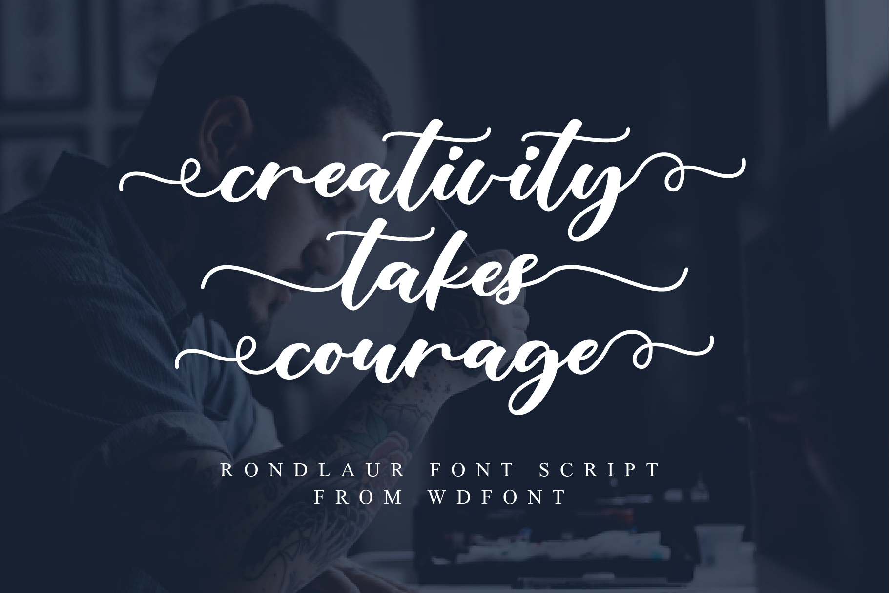 Rondlaur | Modern Calligraphy example image 2