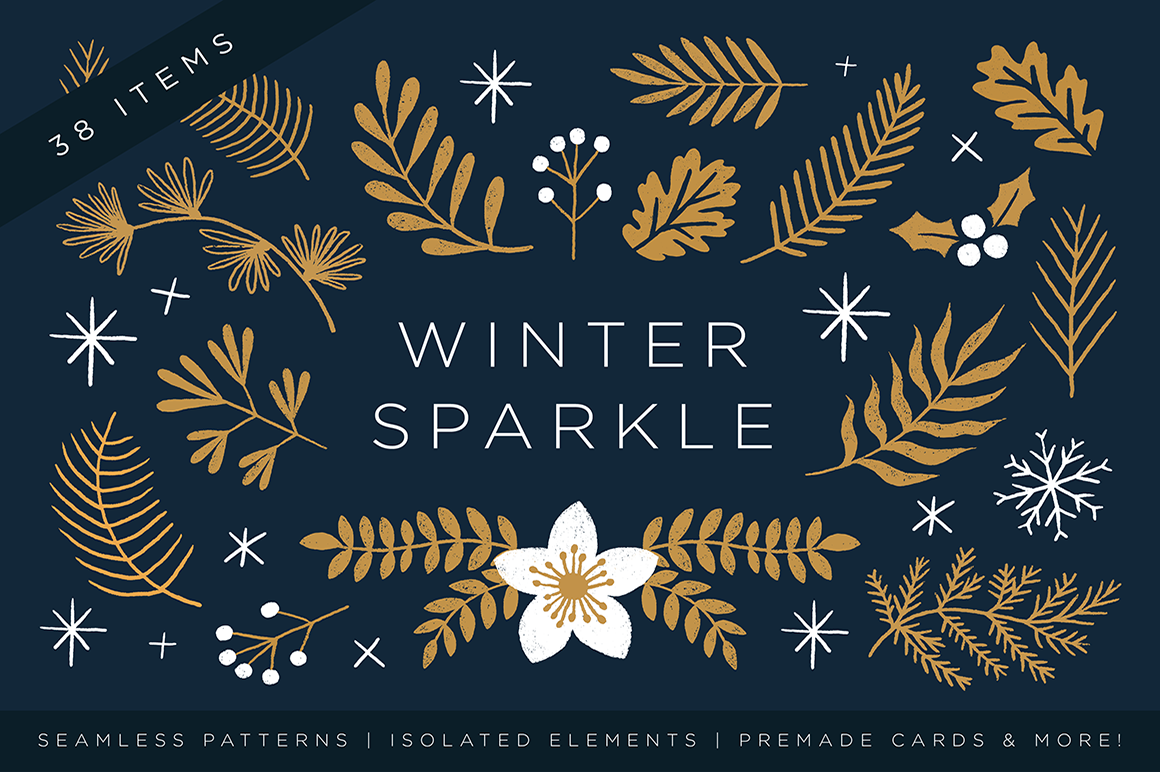 Elegant Christmas Graphic Set example image 1