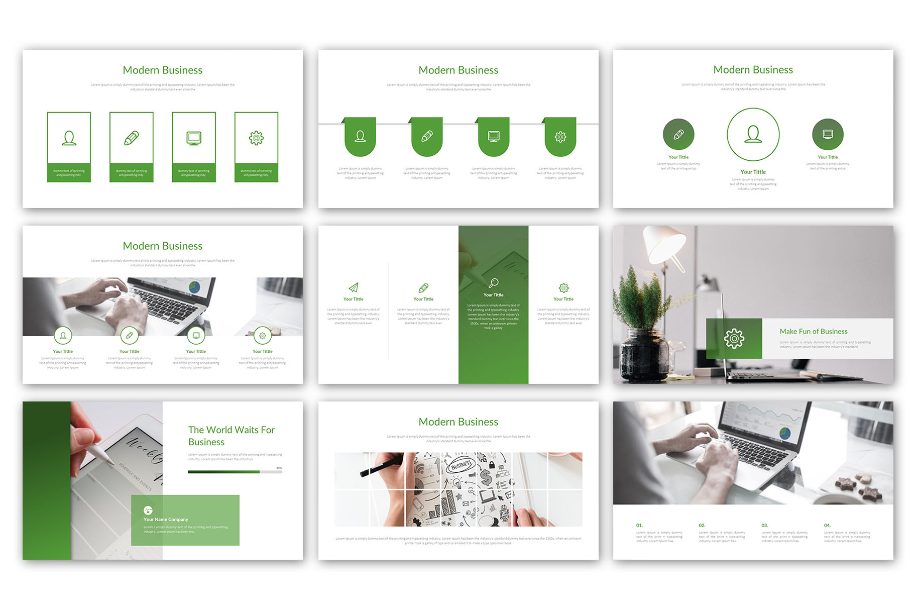 Modern Business Presentation Template example image 3