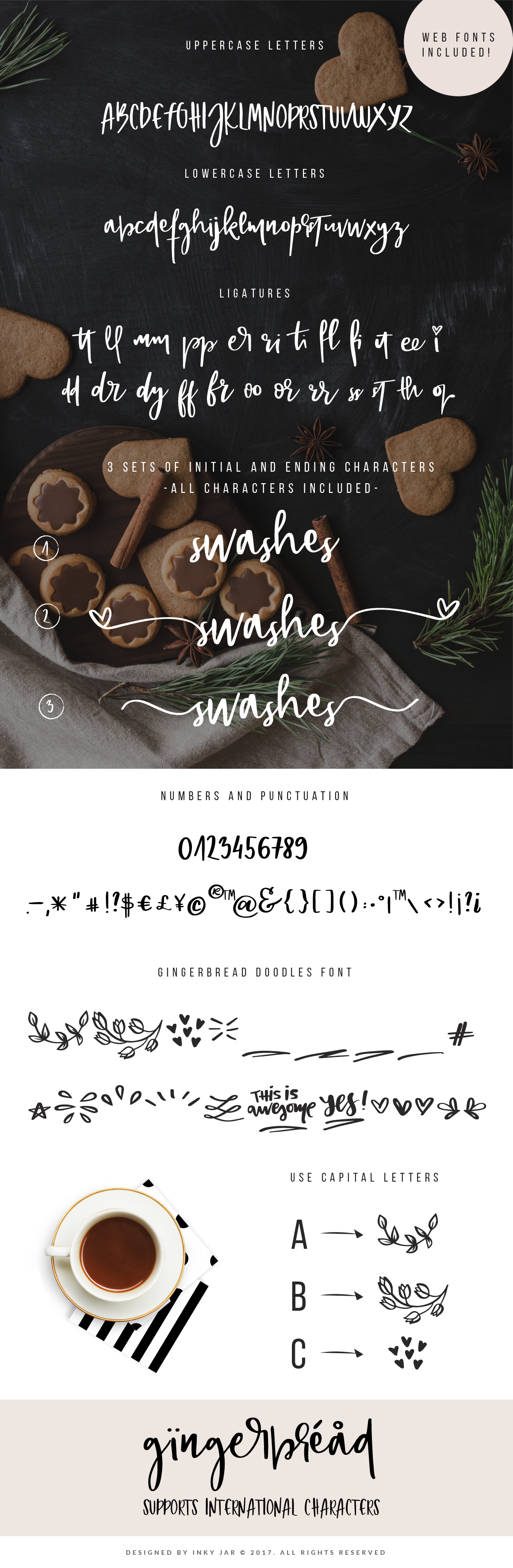 Gingerbread Font Duo 9 Premade Logo templates example image 2