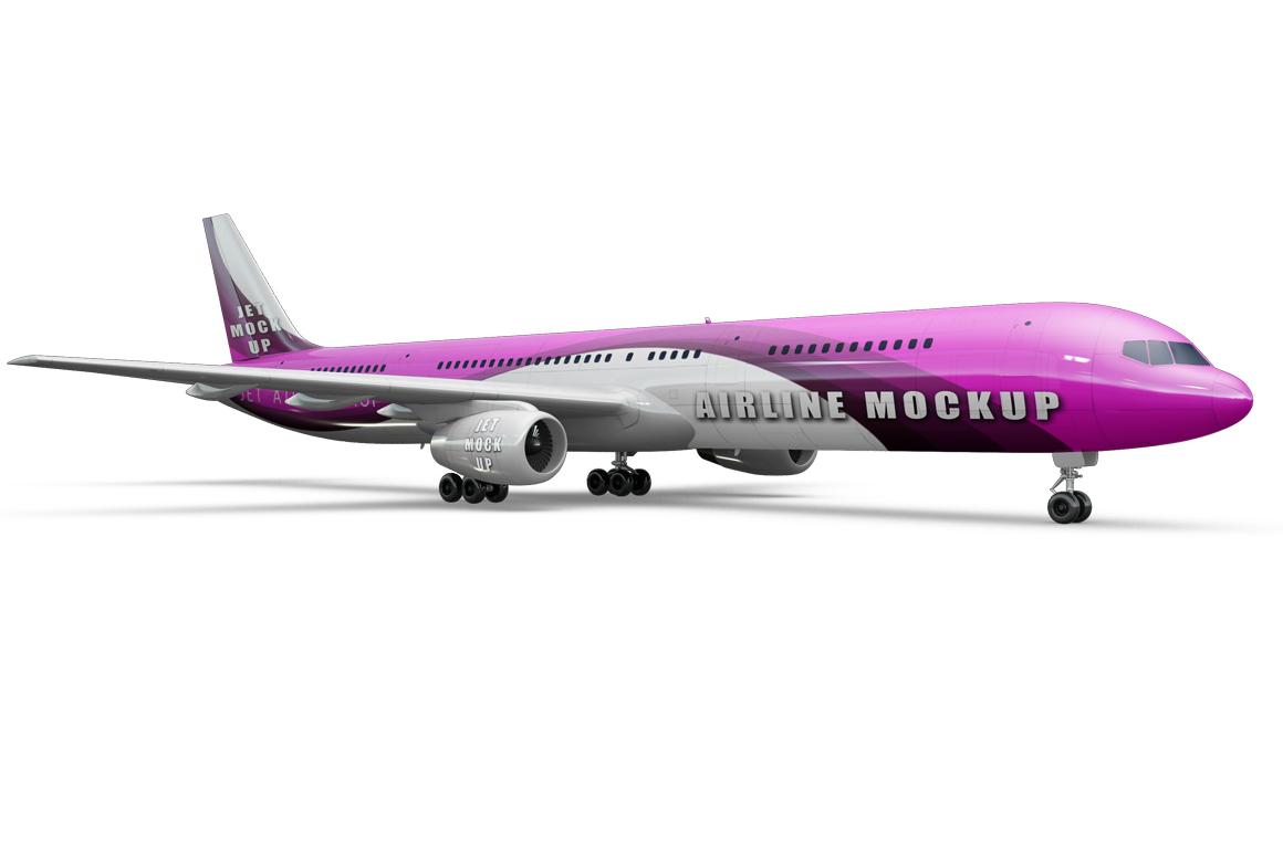 Jet Airplane Mockup example image 7