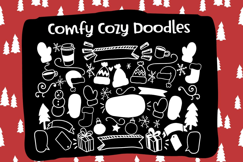 Comfy Cozy Font Trio- Sans, Serif & Doodle Font Bundle example image 5