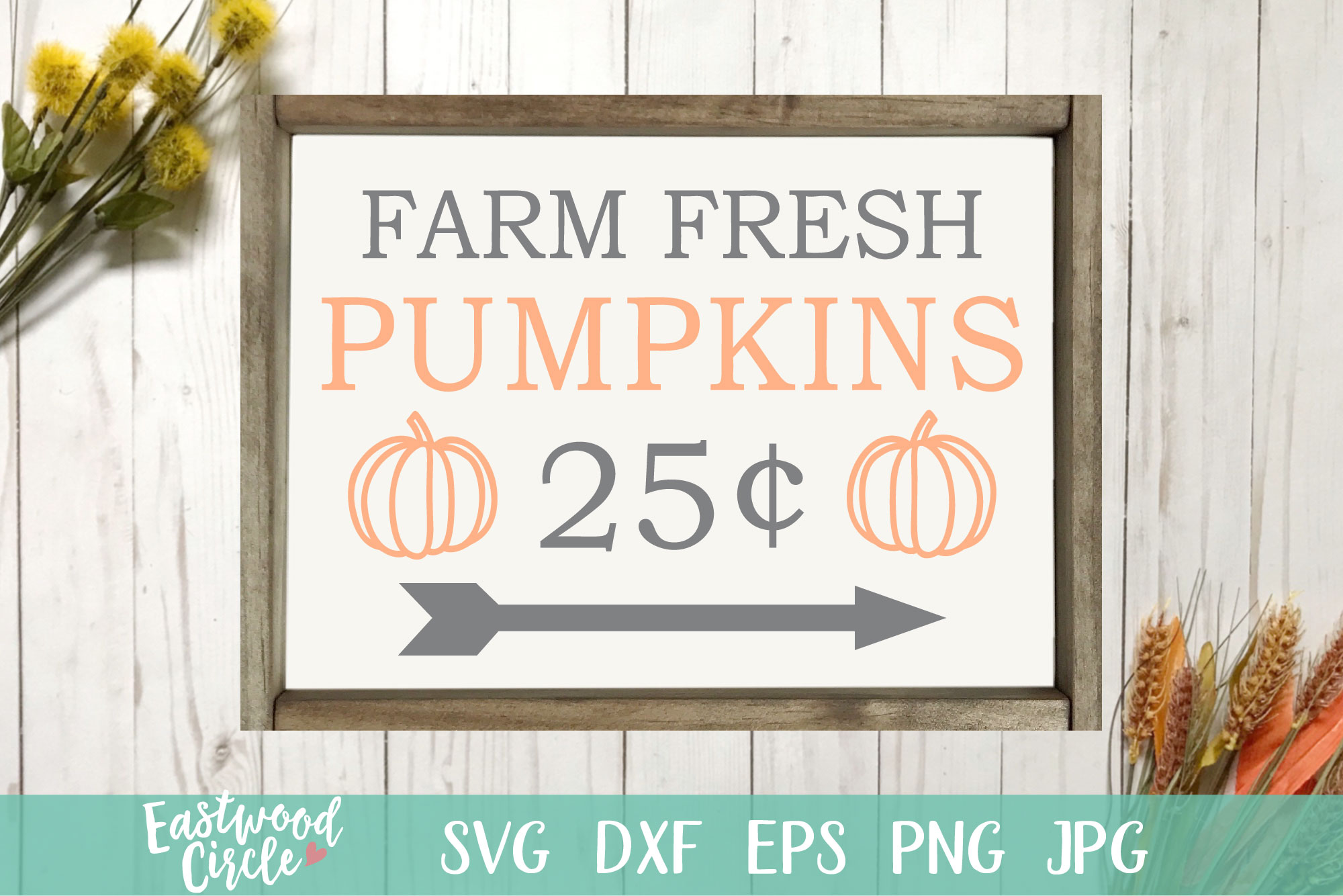 Farm Fresh Pumpkins - Fall SVG File for Signs example image 1