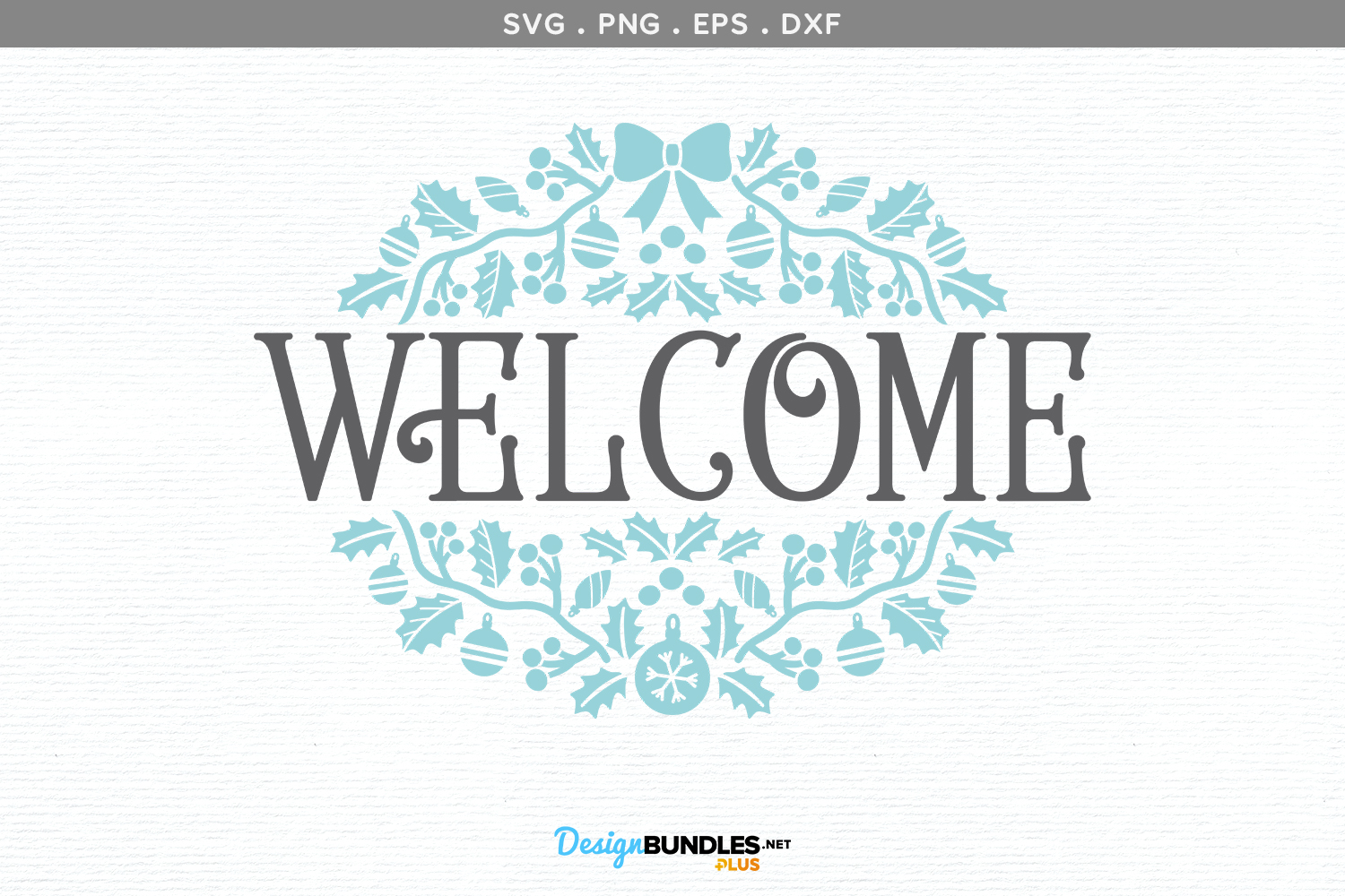 Holiday Welcome Sign - svg, printable example image 2