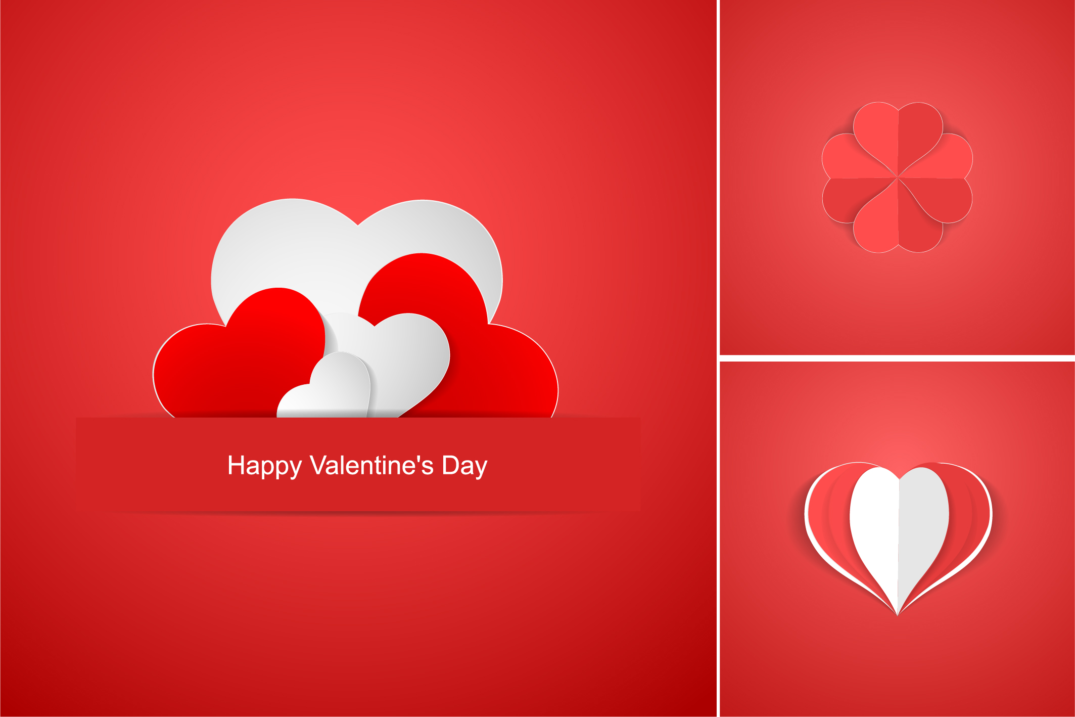 Red postcards with origami hearts. example image 8