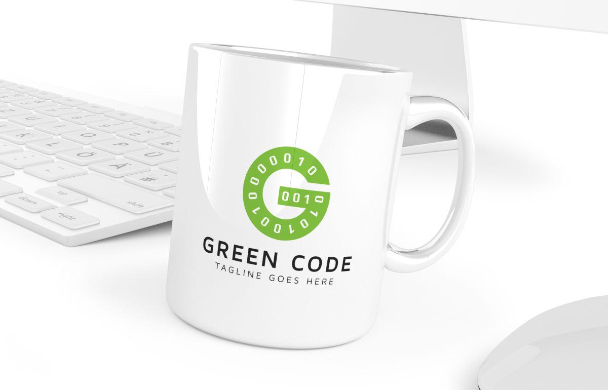 Green Code G Letter Logo example image 4
