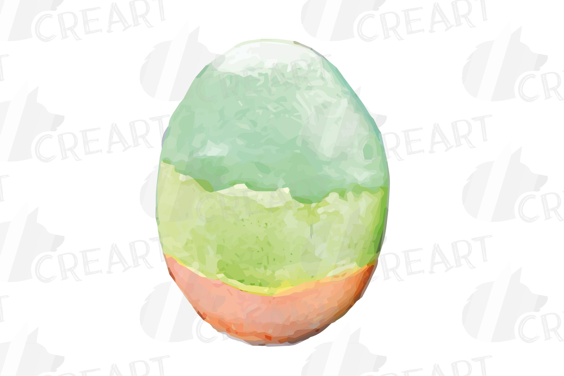 Watercolor Easter eggs colorful clip art pack example image 9