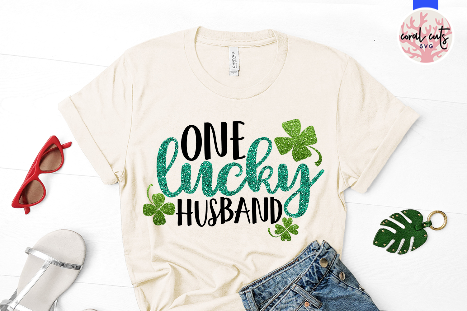 One lucky husband - St. Patrick's Day SVG EPS DXF PNG example image 2