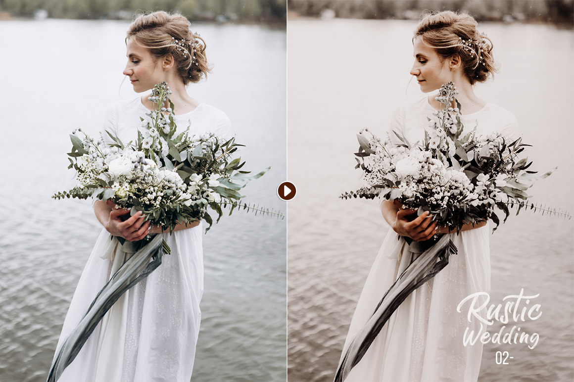 50 Rustic Wedding Presets for Lightroom & ACR example image 4