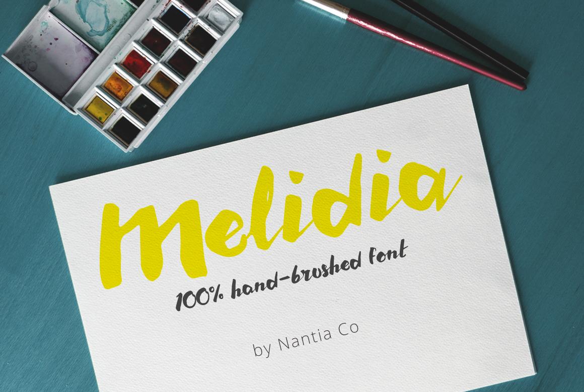 Melidia Font | HandBrushed example image 1