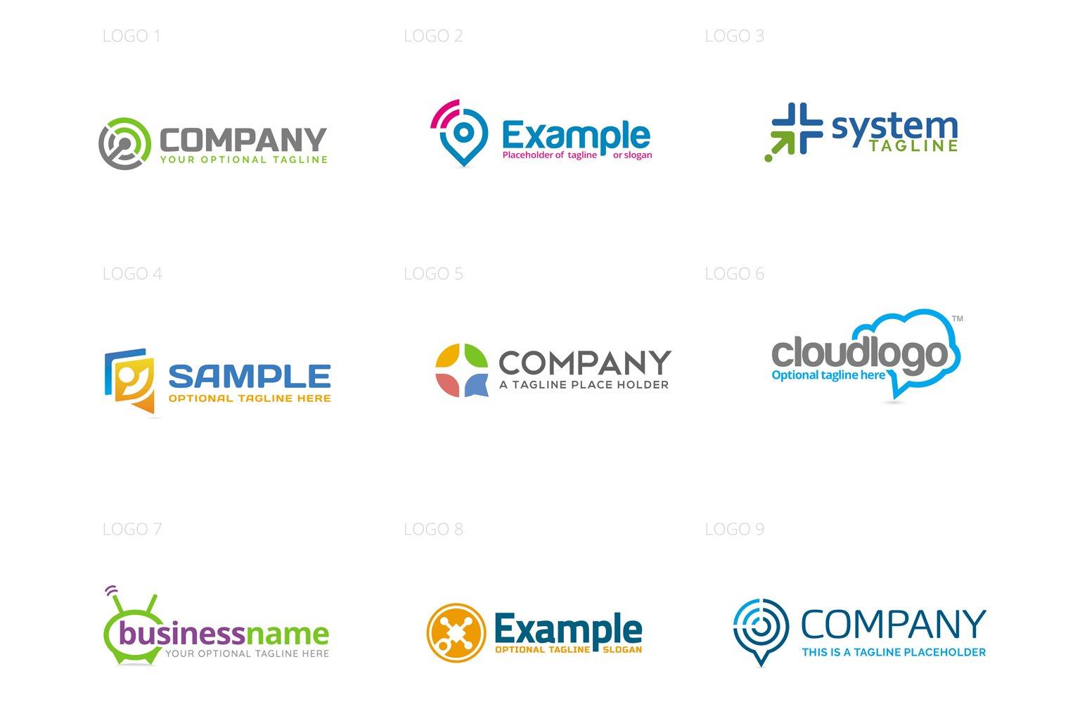 Media Logo Design Set example image 2