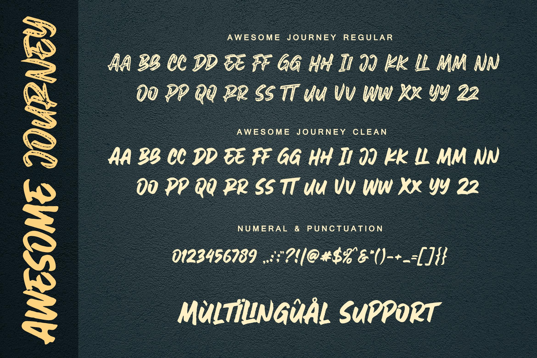 Awesome Journey Brush Font example image 13