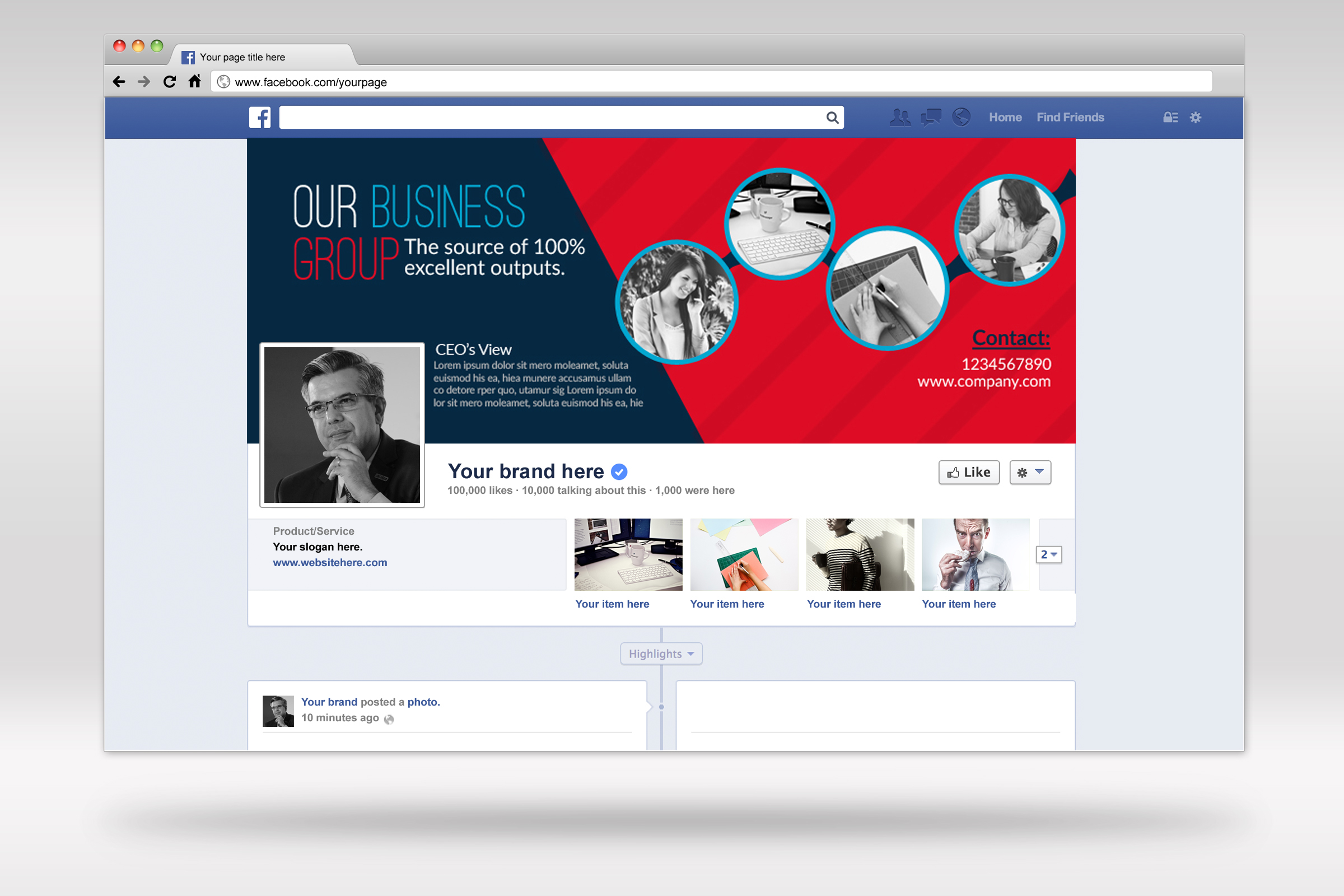 Business Facebook Timelines example image 1