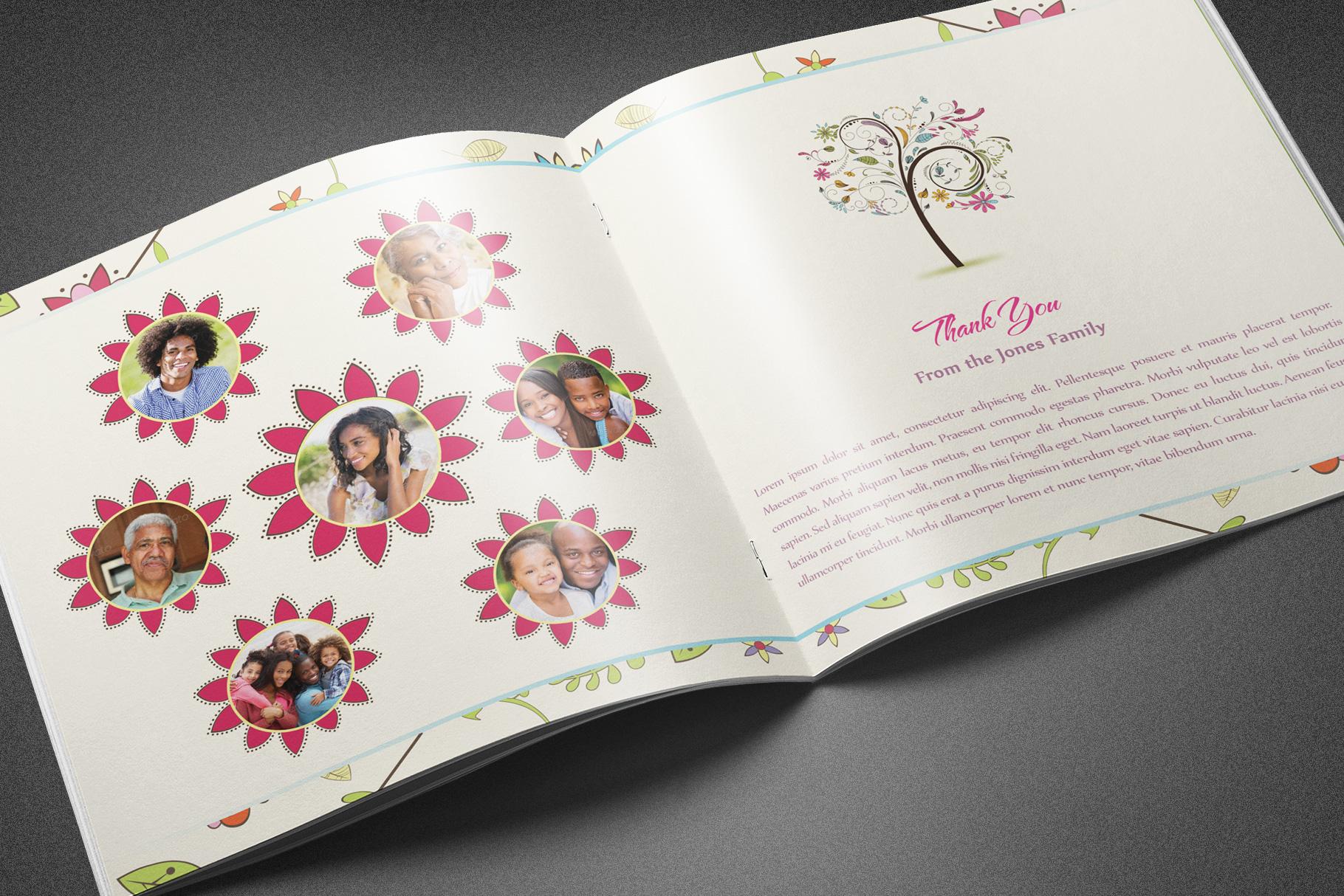 Floral Dreams Funeral Program example image 5