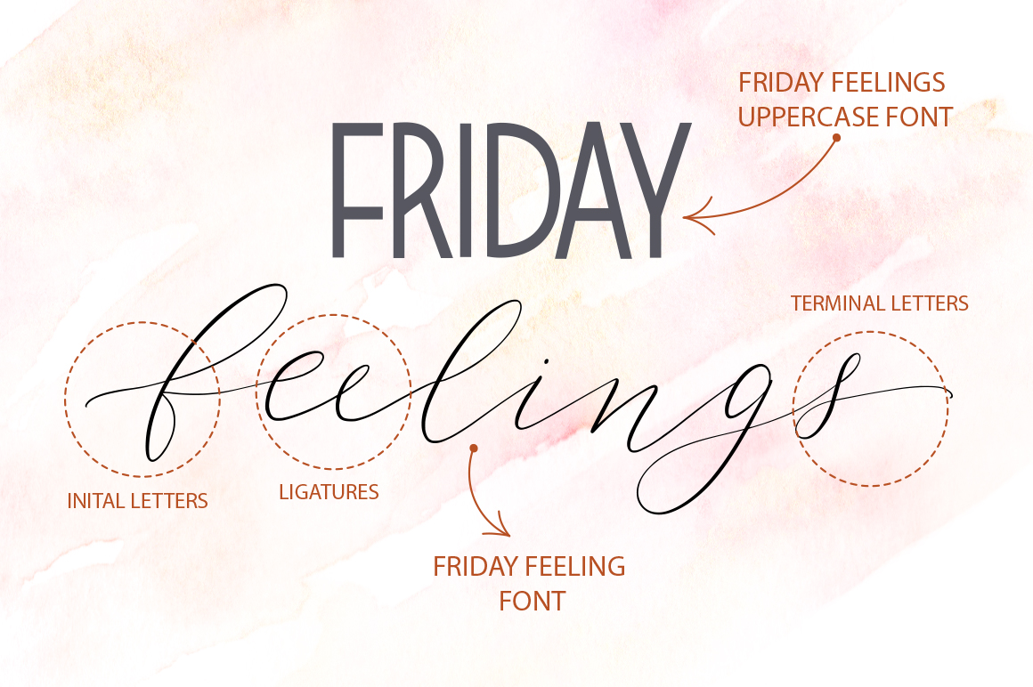 Friday feelings. Font duo. example image 2