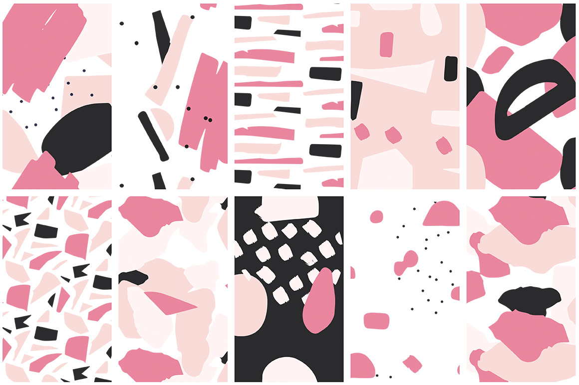 Collage Colorful Patterns example image 8