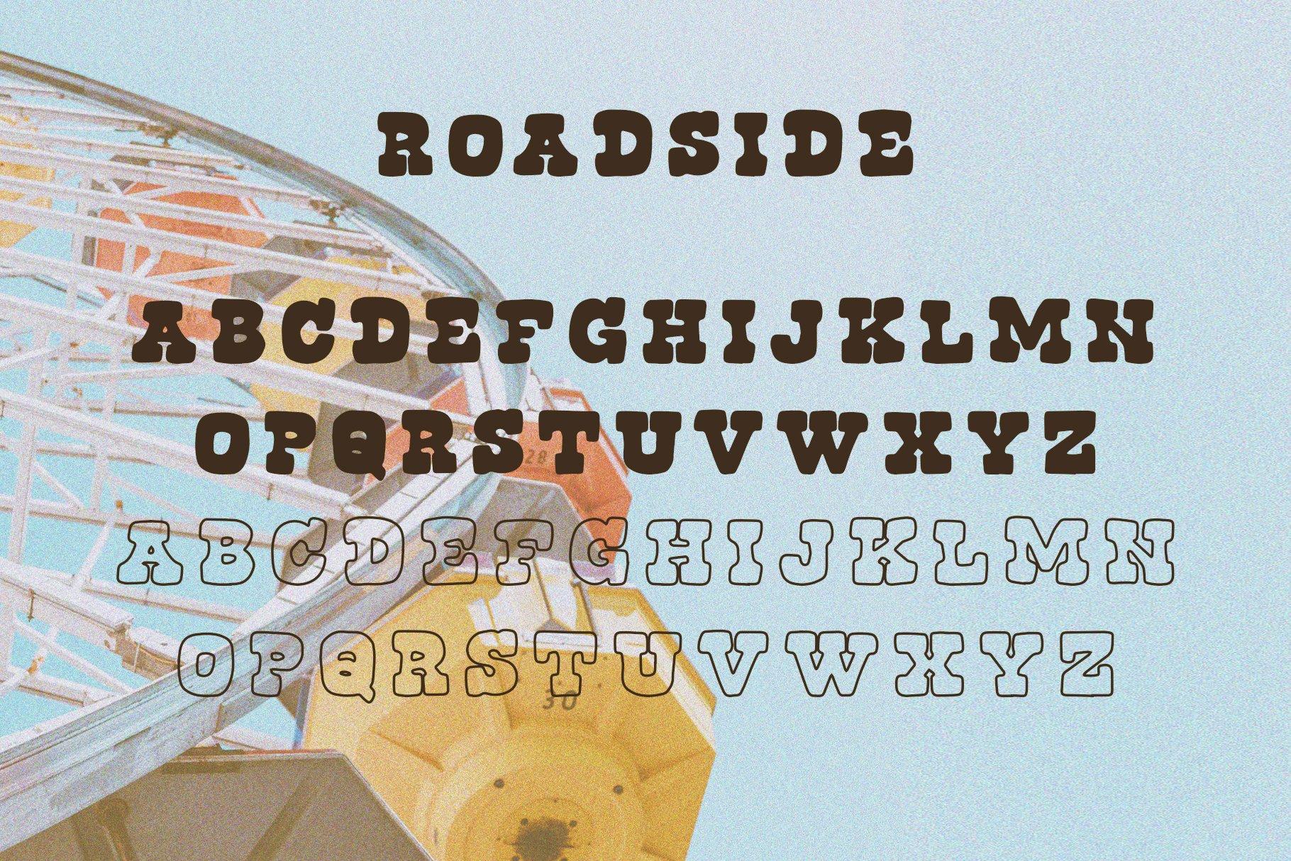 Roadside | Vintage Slab Serif example image 2