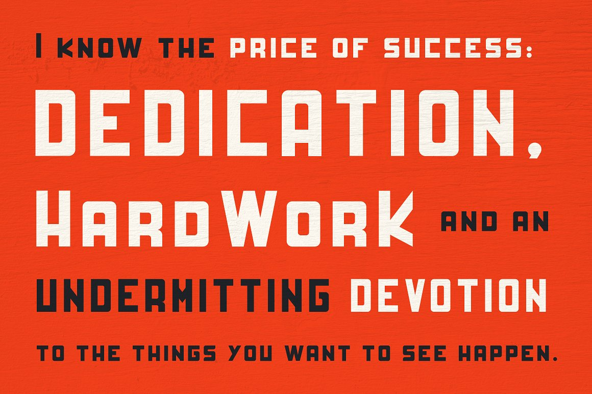 HardWork - Display Font With Styles example image 5