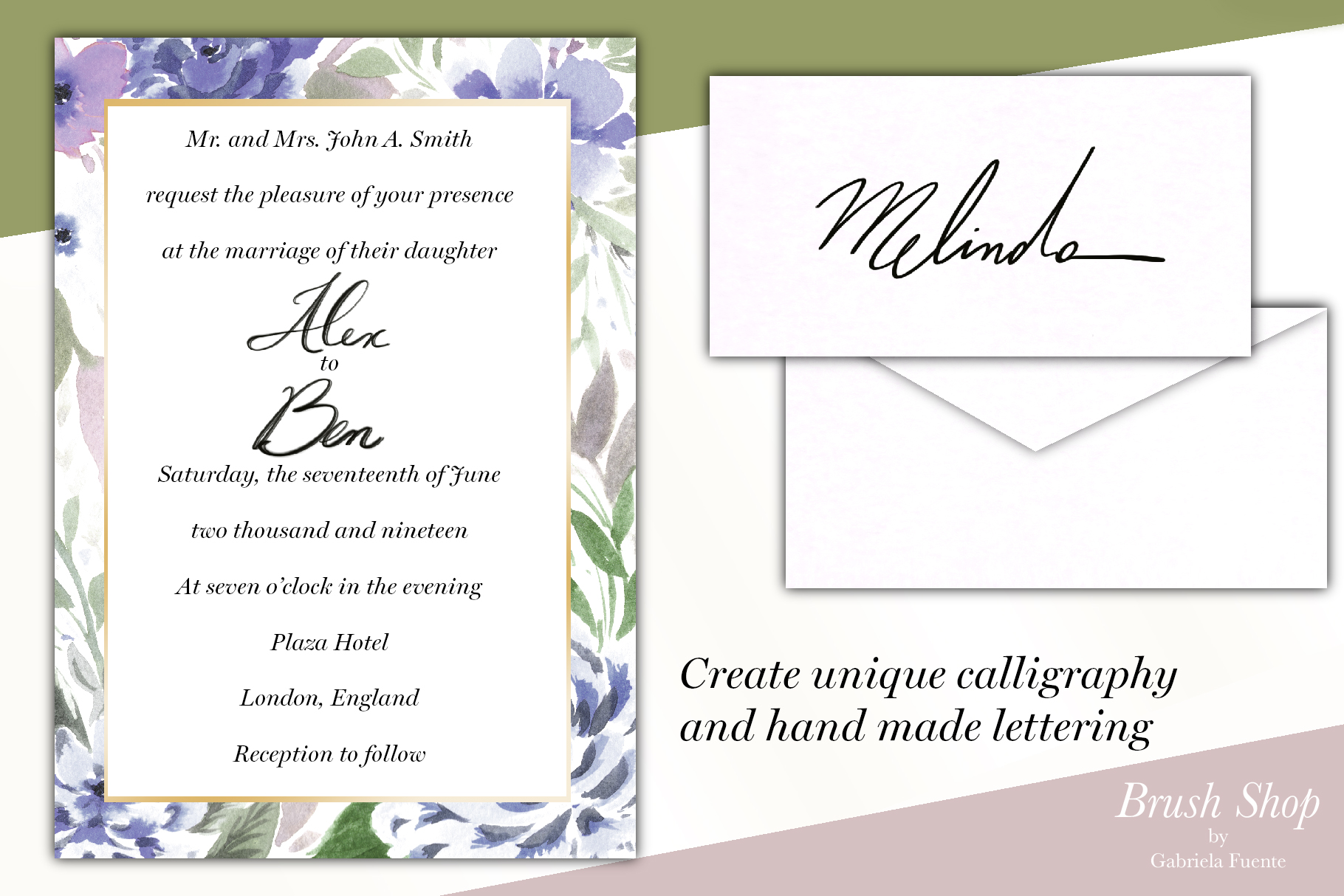 Lucy Calligraphy & Lettering brush example image 9