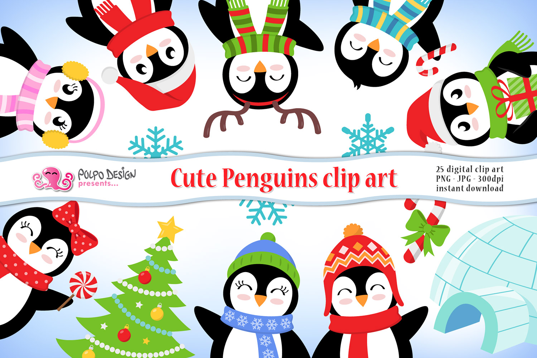 Cute Penguins clipart