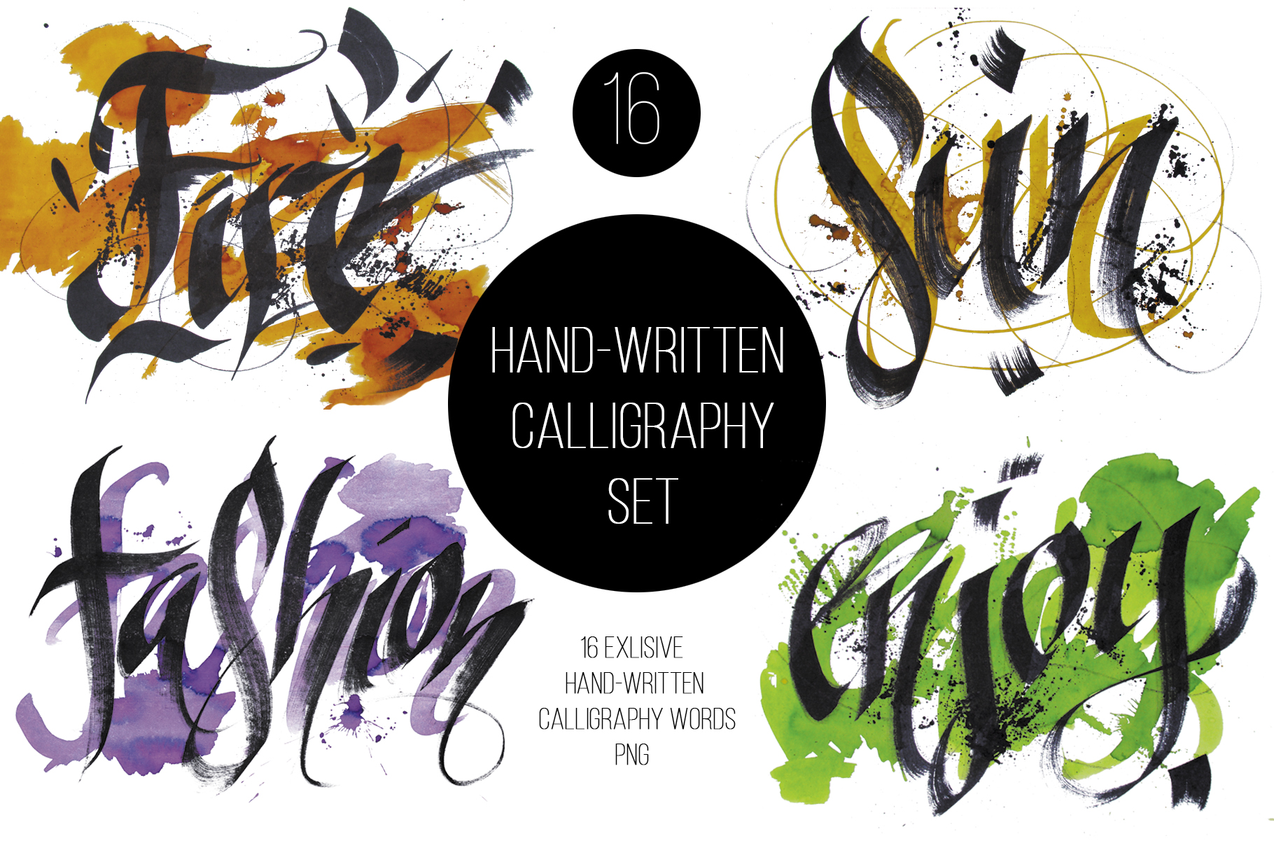 Hand-written Calligraphy Set example image 1