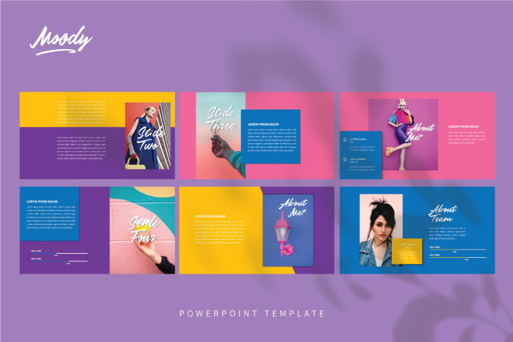 MOODY Powerpoint Template example image 3